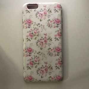 Accessories - White Floral iPhone 6+ Phone Case